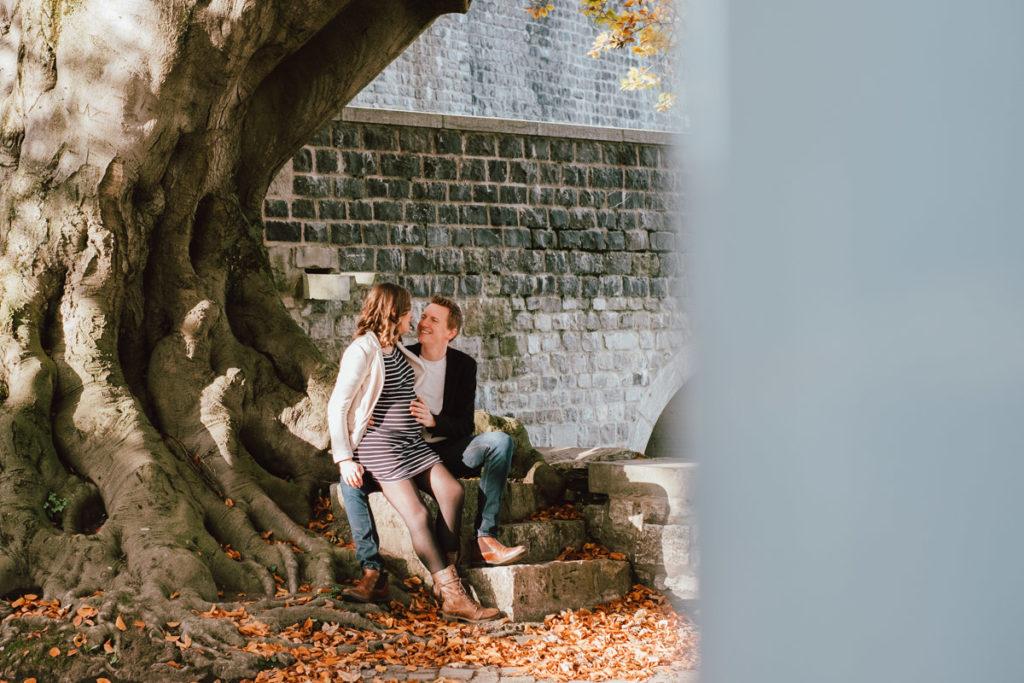 Séance grossesse et couple à la citadelle de namur