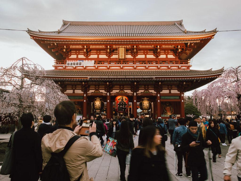 Temple senso-ji à Asakusa au Japon